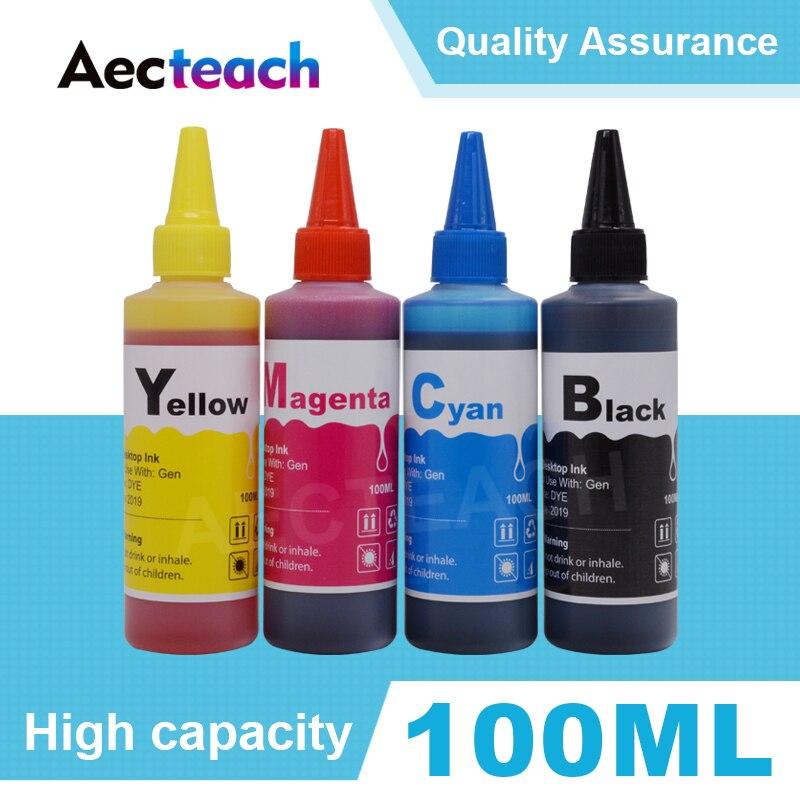 Aecteach Universal 100 ml Kit de Recarga de Tinta Corante Para HP 21 21XL 22 22XL 60 60XL 61 61XL 62 62XL 63 63XL 56 57 74 75 92 93 Impressora