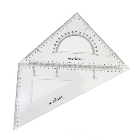 Grande taille triangle règle Squaresquare droite triangle règle 6430 chiban 30 setsquare organique setsquare transparent ps règle