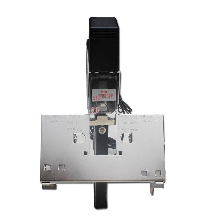 Grapadora rápida eléctrica, máquina engrapadora para libro, máquina de 2-50 hojas con pedal, 100MM, 220V, actualización de grapadora