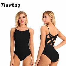 TiaoBug femmes professionnel Ballet Tutu justaucorps adulte découpe arrière Ballet justaucorps pour femmes gymnastique justaucorps ballerine body