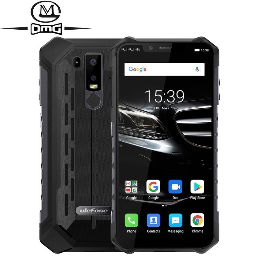 Ulefone-móvil inteligente Armor 6E, teléfono móvil resistente a prueba de golpes IP68, Android 9,0 6,2 pulgadas, 4G + 64G, teléfono inteligente con carga inalámbrica de NFC, 4G