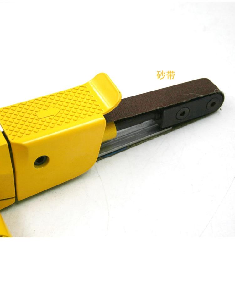 2inch Pneumatic belt machine polisher sander  grinders, ring belt polishing machine 20*520mm