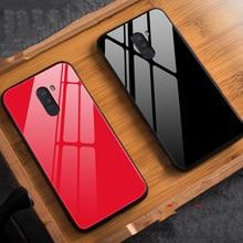 Global Version For Xiaomi PocoPhone F1 Glass Case Luxury TPU Soft Frame+Glass Back Cover Accessory On Poco F1 Fundas Coque