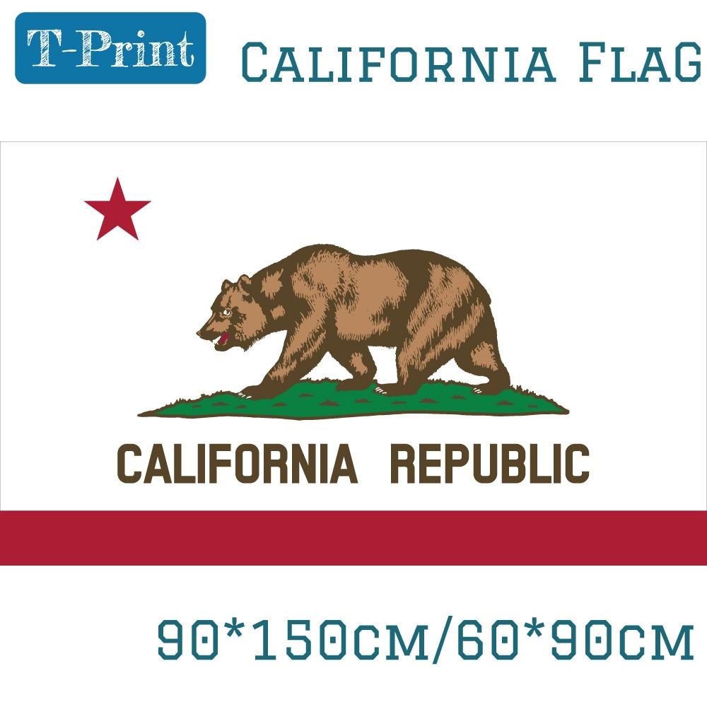 Флаг США 60*90 см 90x150 см флаг штата Калифорния 3x5 американский баннер для улицы