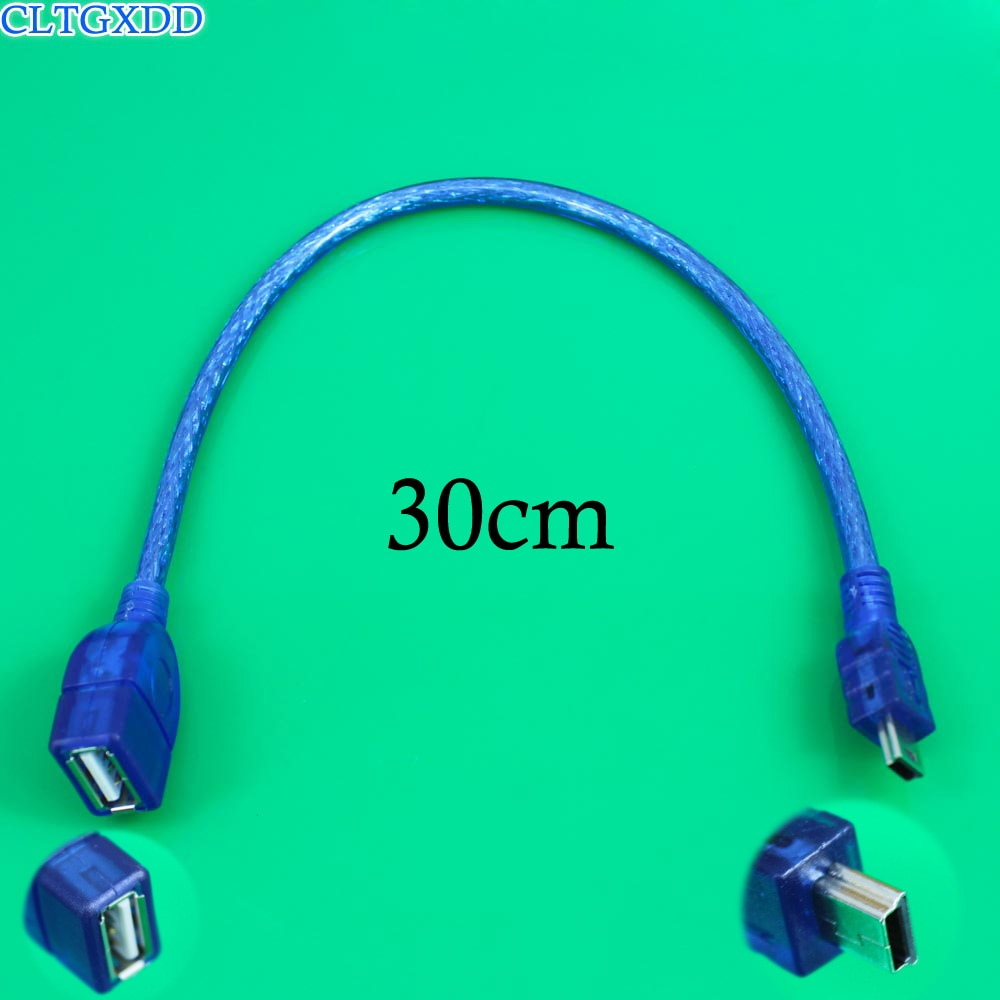 leory 25cm 90 degree angled mini usb cable mini usb to usb 2 0 data sync charger cable for mobile phone mp3 mp4 gps camera hdd Blue Color OTG Cable Adapter Mini USB Male to USB Vehicle 5P OTG V3 Port Data Cable For Video Camera Audio Tablet CD MP3 MP4 GPS