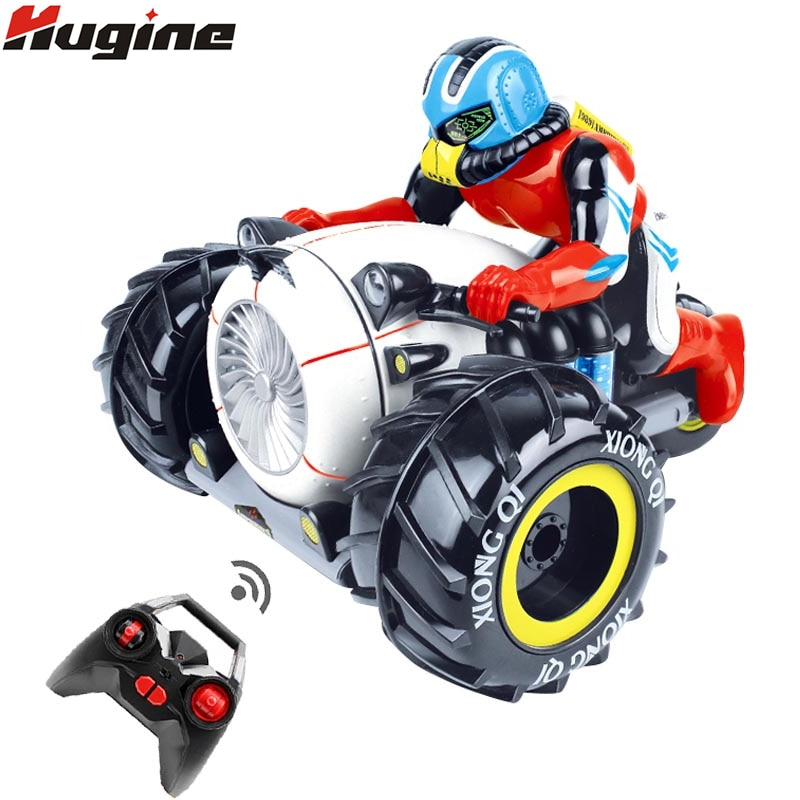 RC Car Dirt Bike Rock Crawler 2.4G Amphibious Radio Control Motorcycle Stunt Racing Vehicle Model Light Electric Hobby Toys