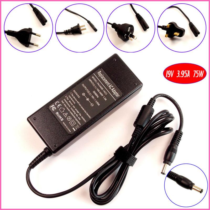 19V 3.95A 75W AC adaptador cargador portátil para Toshiba Satellite P200 P205 P305 P200-1IR P205-S6237 P300-16T P205d-s7802