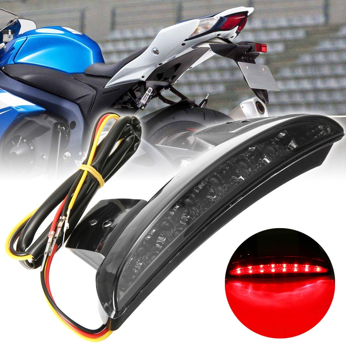Motocicleta humo rojo freno trasero luz picada guardabarros borde LED lámpara para h-arley d-avidson XL883N XL1200N XL1200V XL1200X
