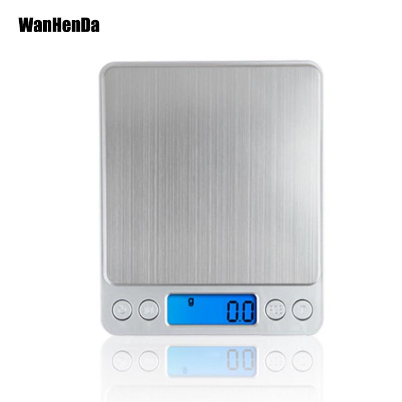 Novo 500/0. 01g 3000g/0.1g bolso caixa postal cozinha jóias balança de equilíbrio peso lcd portátil mini eletrônico digital escalas