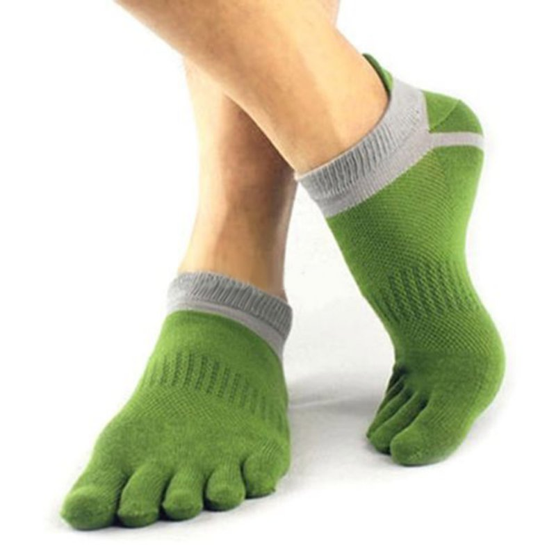Herren Atmungsaktive Baumwolle Kappe Socken Reine Sport Komfortable 5 Finger Zehe Socke 38-43