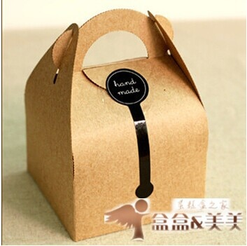 24 pz/lotto kraft Paper Cake Treat Box Macaron Regalo Panificio Biscotto Favore Cupcake Al Cioccolato Scatola di Imballaggio Di Nozze Di Natale TB35