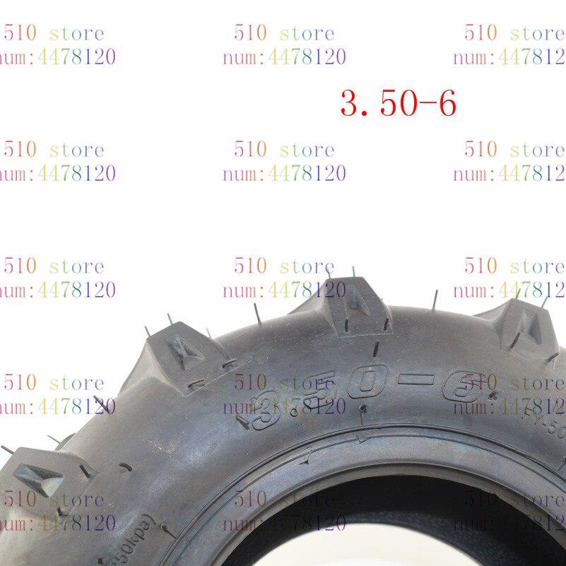 Alta calidad, neumático de vacío grueso 3,50-6,5, resistente al desgaste, apto para jardín, rotativa de Tractor, cultivador, neumático de scooter de movilidad