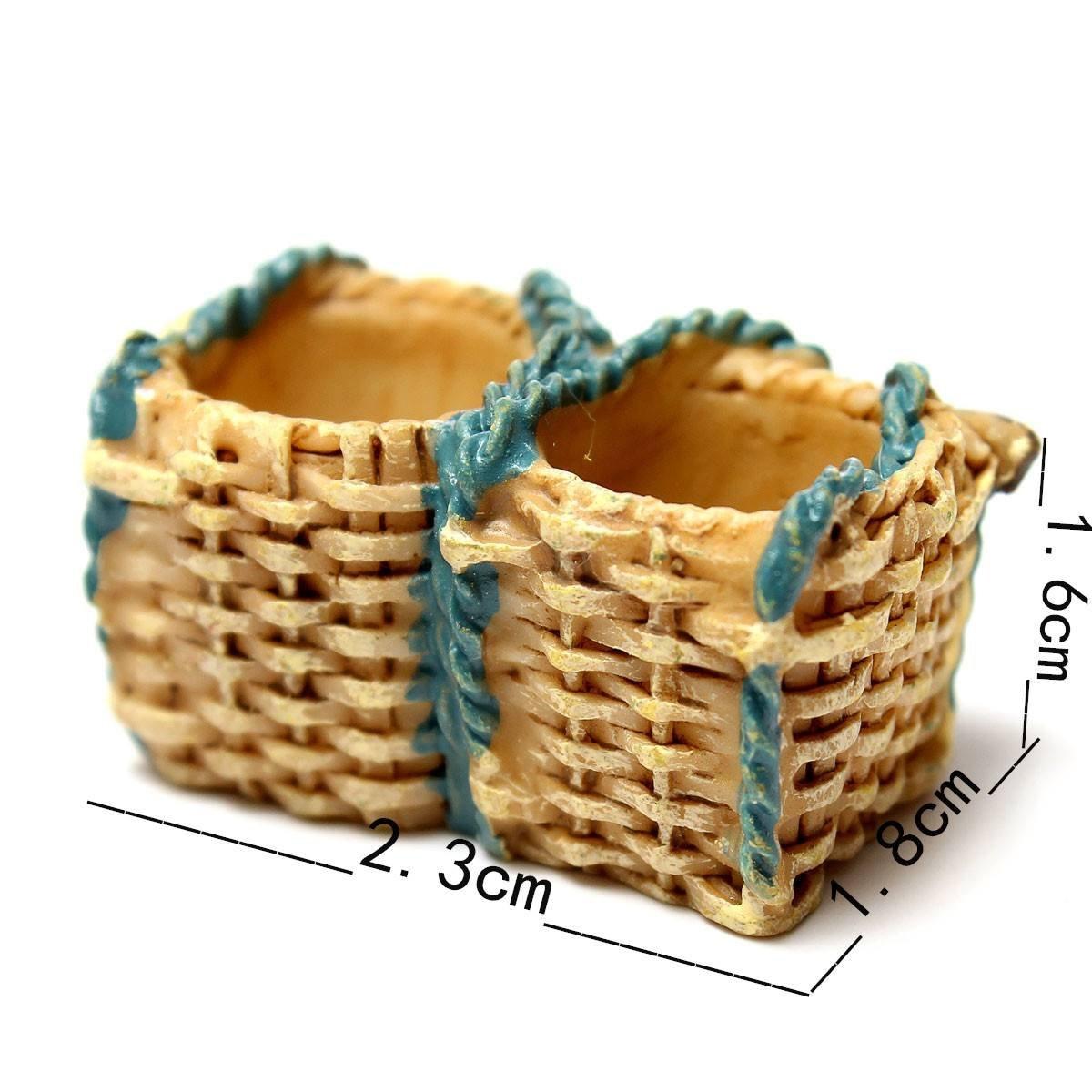 Miniatura jardín para casa de muñecas ornamento maceta plantas de manualidades decoración del hogar cestas de regalo de mimbre