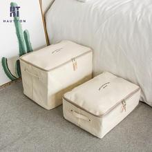 1 Pcs Canvas Thicken Storage Bag Case Clothes Quilt Zipper Storage Box Luggage Bag Organizer Wardrobe Clothes Storing Bags