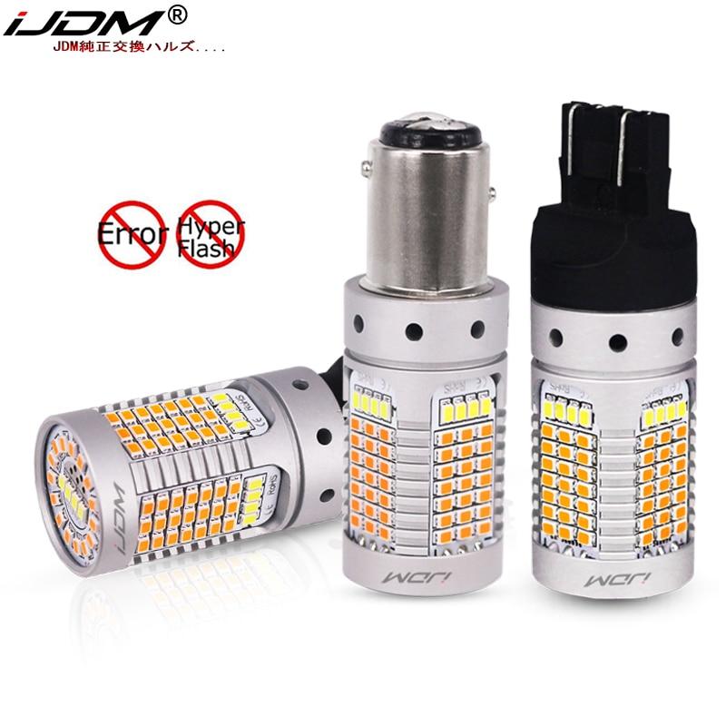 IJDM нет Hyper Flash 21 Вт 7443 LED Canbus 3157 1157 LED Switchback белые/Янтарные светодиодные лампы для дневных ходовых/сигнальных огней