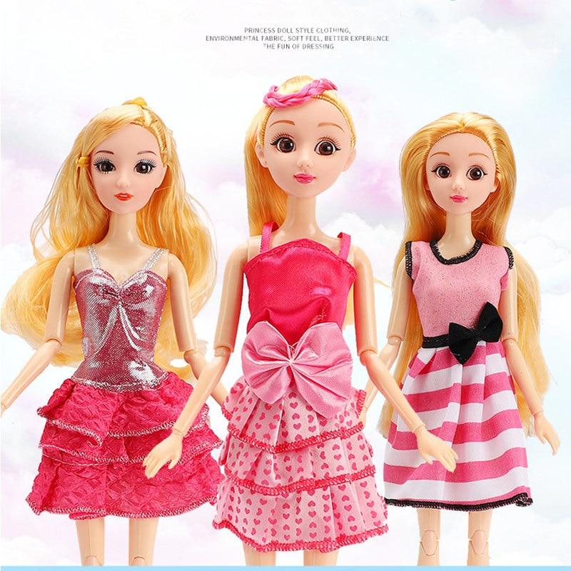 Dress Up Puppe Kleidung Zubehör für 30 cm BJD Puppen Mode Prinzessin Kleid für Auto Puppe Kostüm Mädchen Spielzeug 15 typ
