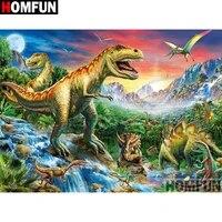 HOMFUN     peinture diamant theme  dinosaure   broderie complete 5D  image en strass  faite a la main  decoration dinterieur  A00485