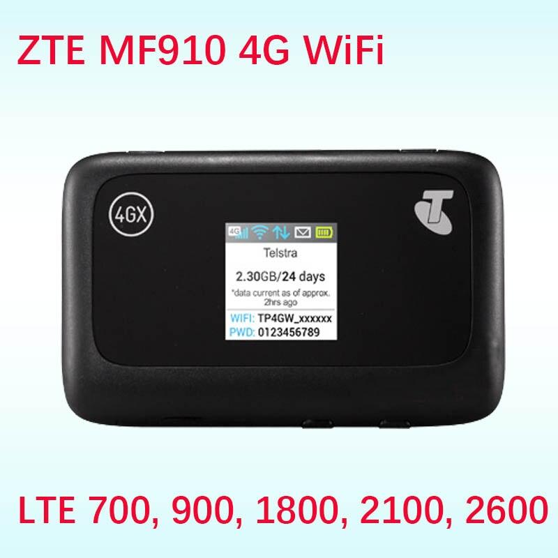 Desbloqueado ZTE MF910 CAT4 150Mbps 4G LTE banda 28 700 banda Router inalámbrico móvil WiFi router 4g ranura para tarjeta sim Wi-Fi de bolsillo
