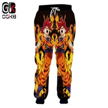 OGKB New Harajuku Men /Women Sweatpants Fashion Print Anime Dragon Ball Z Super Goku  Casual Sweat Pants Joggers Pants Plus 5xl