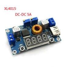 Цифровой светодиодный привод DC-DC 5A, модуль зарядного устройства для литиевой батареи CC/CV, понижающий USB-преобразователь с вольтметром, ампер...