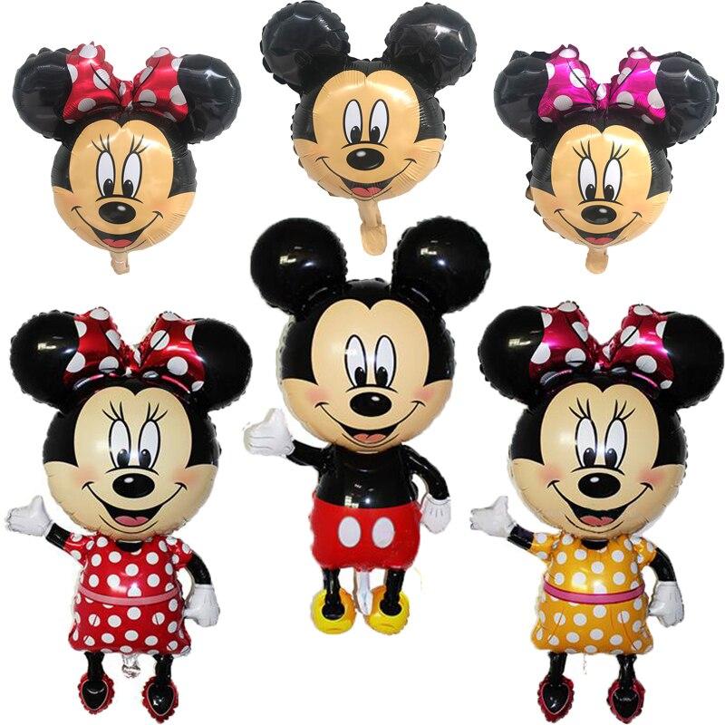 1 шт Микки Минни Маус фольги воздушный шар с днем рождения украшение мини Микки голова Средний Микки голова воздушный шар детские игрушки