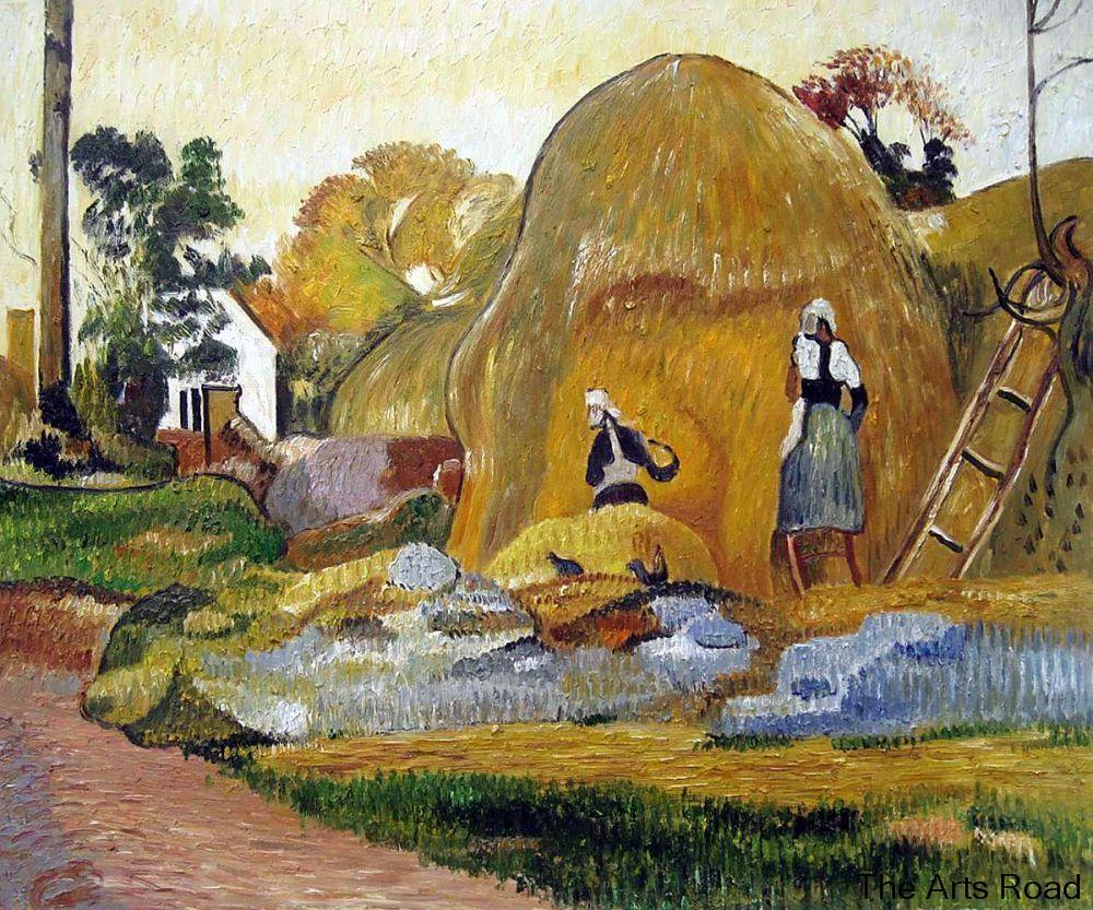 Haystacks amarillos (The Golden Harvest), 1889 de Paul Gauguin pinturas al óleo en línea paisaje arte hecho a mano 100%