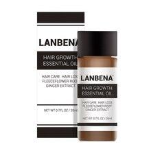 LanBeNA Powerful Hair Growth Essential Oil Thicken Hair Ginger Ginseng Extract Anti Hair Loss Treatment Hair Care TSLM1