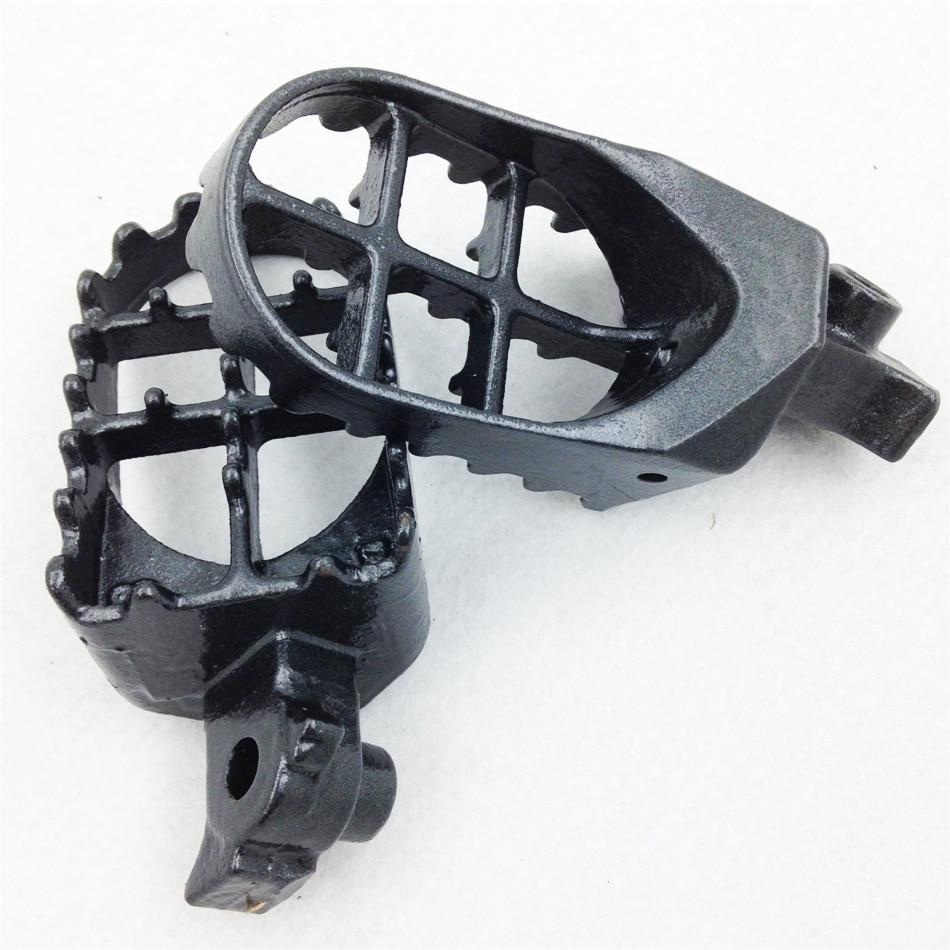 Mercado de accesorios envío gratis piezas de la motocicleta pie clavijas para Honda CRF100F 50F 70F 80F 150R XR100R 50R 70R 80R KLR650 gris