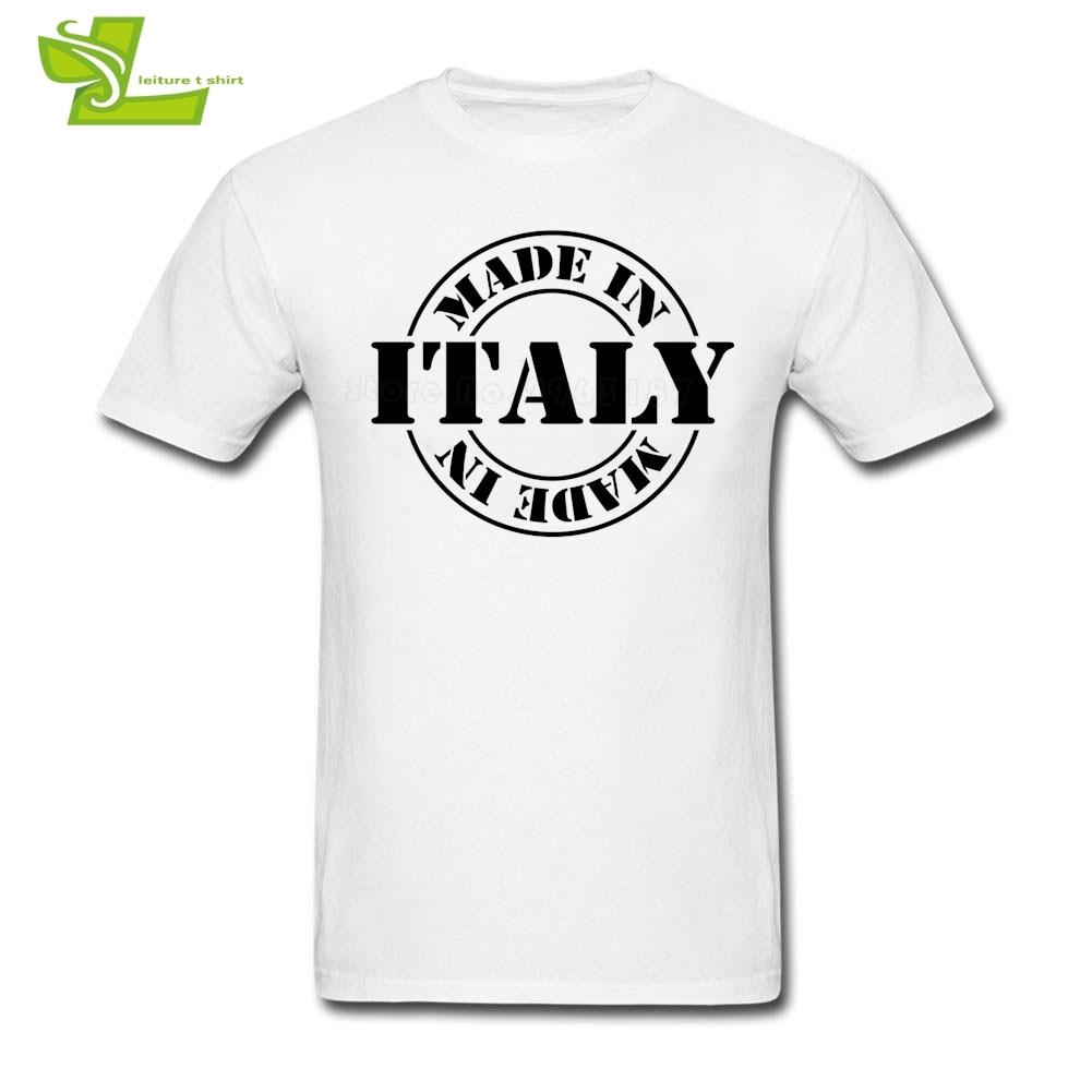 Hecho en Italia, camiseta de verano para hombre, gráfico de Camiseta con cuello redondo, camisetas grandes a la moda, camiseta para hombres holgada personalizada