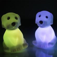 Haute qualité coloré LED veilleuse enfants enfants chambre lampe de Table chien en forme de nuit éclairages