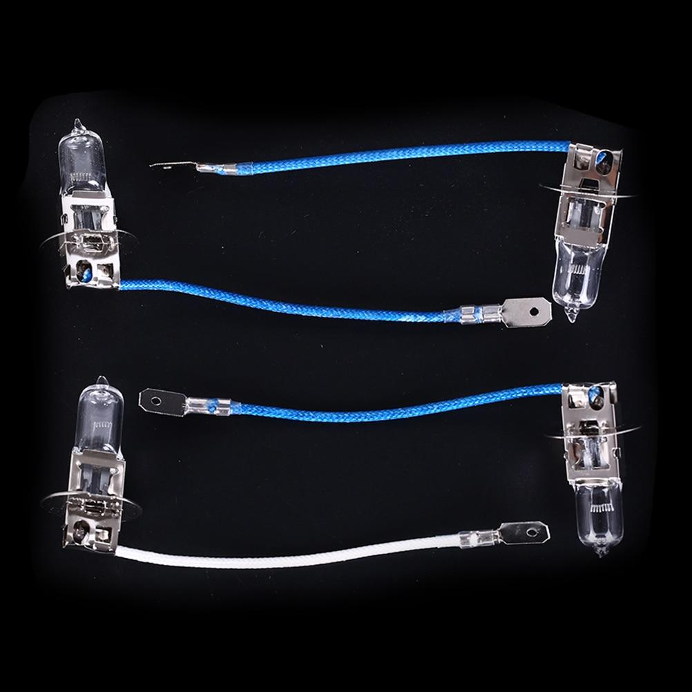 2 pcs/lot nouvelle lampe de travail H3 35W 55W 70W 100W 24V éclairage ampoules halogène tungstène avec Machine-outil de câble