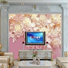 Papel pintado de encargo de la foto de beibehang Mural nuevo en relieve 3D de la pared del fondo de la TV 3D papel de parede 3d