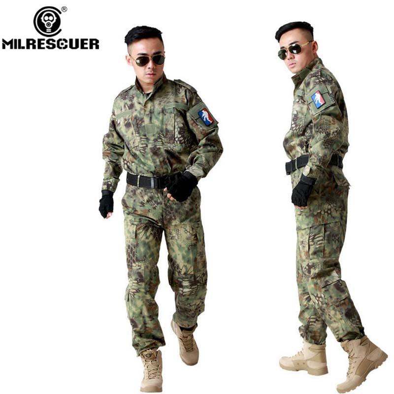 ¡Milrescuer de alta calidad! Mandrágora BDU Uniforme de camuflaje táctico militar camisa de combate + Pantalones ajuste Airsoft caza juego de guerra Ect.