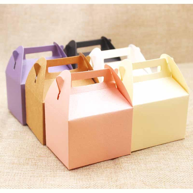 DIY blank paper gift box .Mutli color candys/wedding favor display package box .kraft/pink/purple gift package box 10pcs per lot