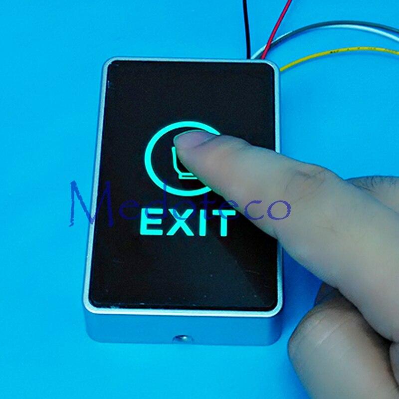 Control de Acceso Delgado botón de salida táctil NC/NO/COM Interruptor táctil botón de apertura de la puerta botón de salida táctil