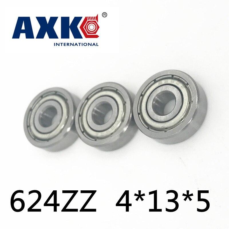 Axk 624zz rolamento Abec-5 10 pces 4x13x5mm fio máquina de corte miniatura 624-2z rolamentos de esferas 624zz emq z3v3 qualidade