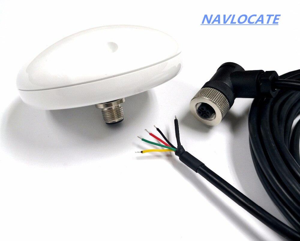 Nuevo 12V-24 rs232 RS-232 GPS GLONASS Antena del receptor 4800 baudios de 1-10HZ Gnss rs232 módulo Chip diseño NMEA0183.