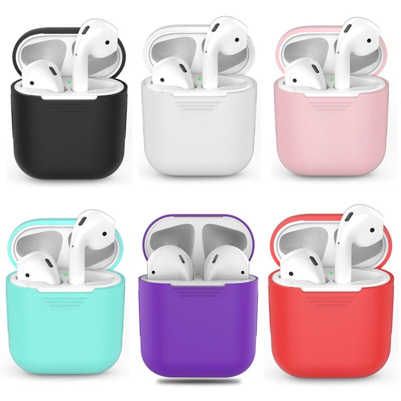 Estojo de fone de ouvido sem fio tpu para airpods, acessório de proteção de silicone para airpods, caixa de carregamento para airpods, 1 peça