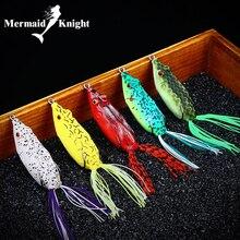 5 adet Fishng Cazibesi Kurbağa Yumuşak Yemler için Yılanbaş 70mm 13g Balıkçılık Bait Yumuşak Topwater Wobblers 7 Renkler crankbait Alabalık Somon