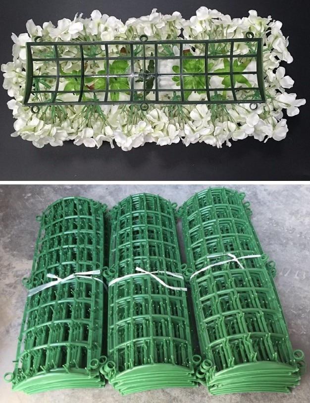 Suporte de flor de plástico quadro para flores arcos de parede porta do corredor diy decoração de casamento pano de fundo plástico dobrado sub-rack linha de flor