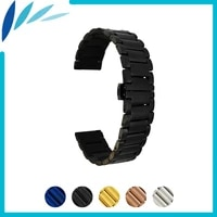 stainless watch band 20mm 22mm for amazfit huami xiaomi smart watchband butterfly clasp strap quick release loop belt bracelet