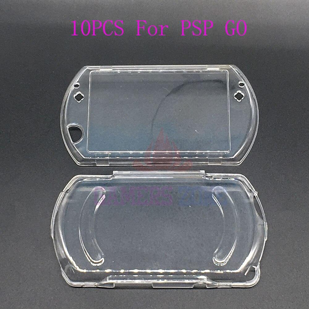 10 Uds para PSP ir de cristal caso claro duro cubierta protectora de la carcasa para PSP ir