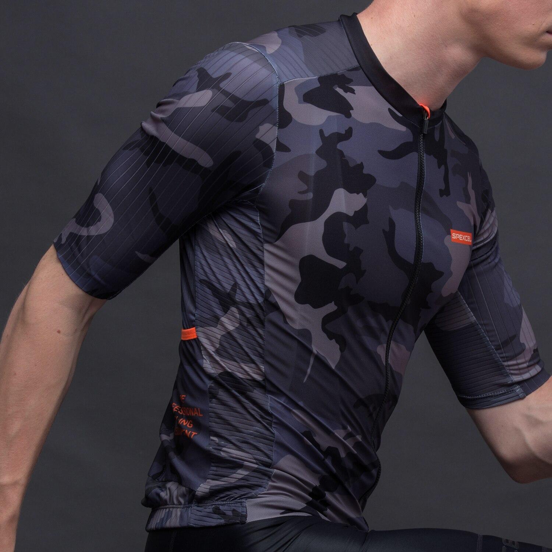 SPEXCEL 2019 nueva camiseta aerodinámica de manga corta para ciclismo, camiseta de manga corta para ciclismo mtb, tela de rayas para aerodinámica en la manga y la espalda