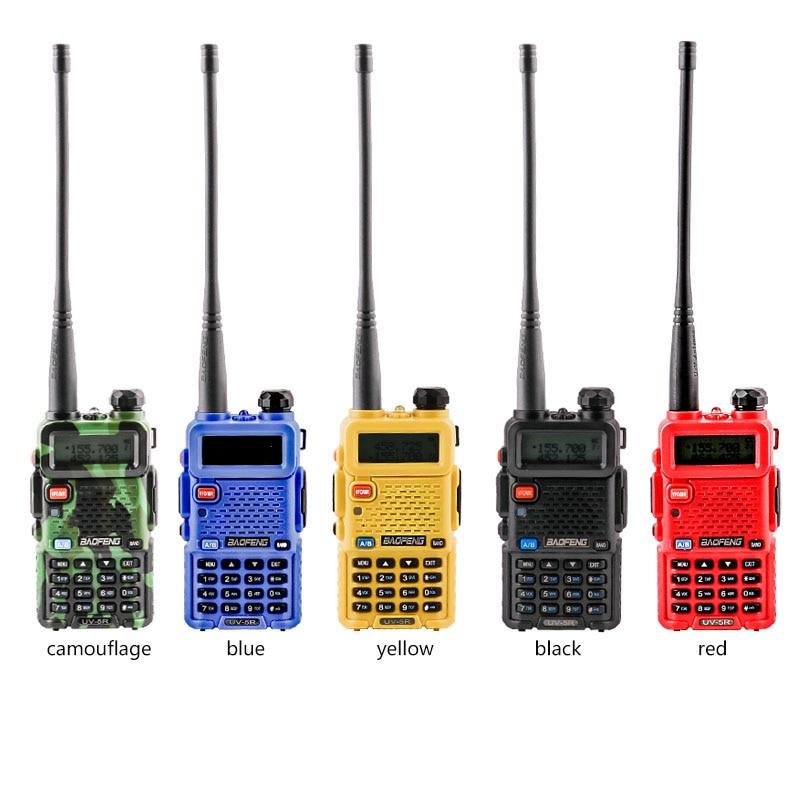 NEW walkie talkie 2 pcs Ham Radio Hf Transceiver Uv5r Baofeng Uv 5r For 136-174mhz &400-520mhz Two 2 Way Radio Dual Band Uhf Vhf enlarge