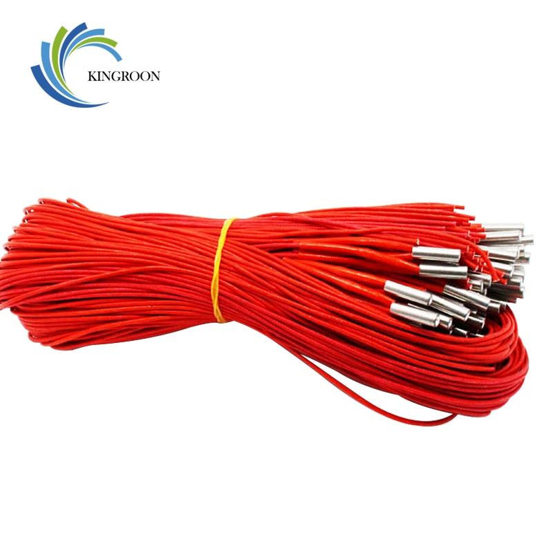 Calentador de cartucho 5 unids/lote 12V 30W para impresora 3D, calentador de cable de cartucho de cerámica, 6x20mm, 1M de largo para pieza de impresora 3D Reprap Prusa