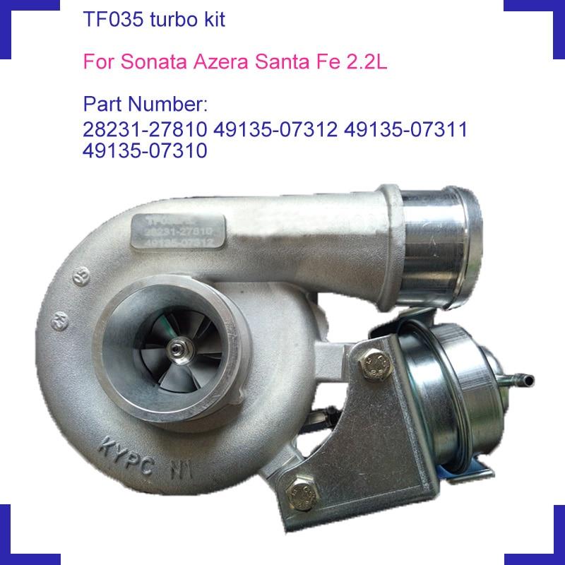 Двигатель турбо supercharger запчасти 49135-07312 49135-07311 49135-07310 для HYUNDAI SONATA SANTA FE AZERA D4EB двигатель 2188cc