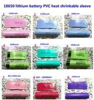 100pcslot 18650 lithium battery package sleeve shrink sleeve battery cover pvc sheath heat shrinkable film 3400mah