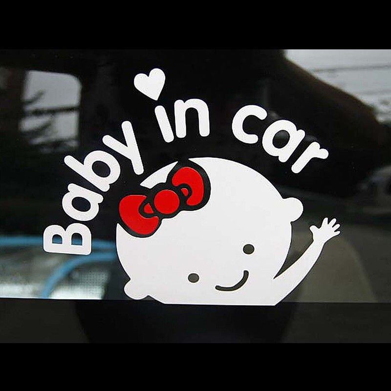 """Bebé en coche"" estilo de coche de ondeando bebé a bordo de señal de seguridad calcomanías Adhesivos para coche de PVC material reflectante"
