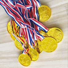 1 pièces Champion en plastique enfants or gagnants médailles enfants jeu sport prix récompenses jouets enfants faveur cadeau pour enfants