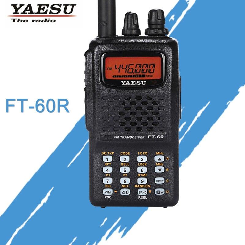 General for Walkie Talkie YAESU FT-60R Dual-Band 137-174/420-470MHz FM Ham Two Way Radio Transceiver YAESU FT60R Radio